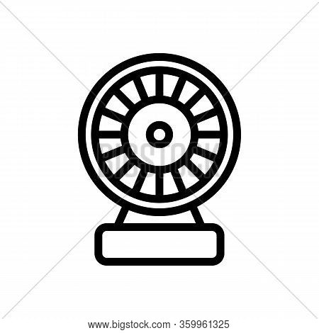 Electric Motor Homemade Icon Vector. Electric Motor Homemade Sign. Isolated Contour Symbol Illustrat