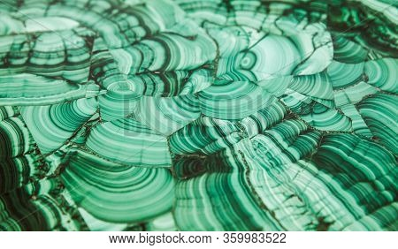 Malachite, Natural Green Table Panel, Close Up Background Photo