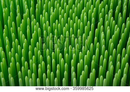 Plastic Bright Green Pointy Structure, Texture Background