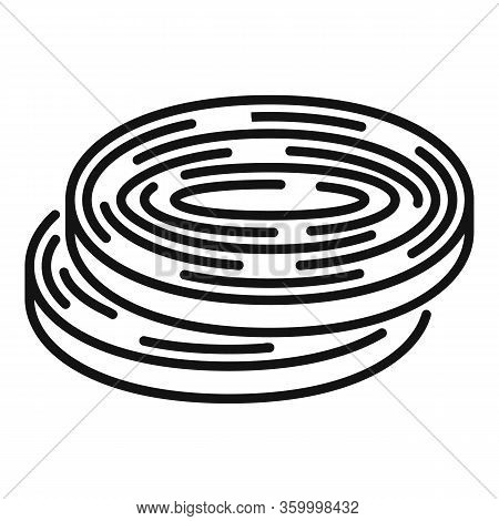 Onion Rings Icon. Outline Onion Rings Vector Icon For Web Design Isolated On White Background