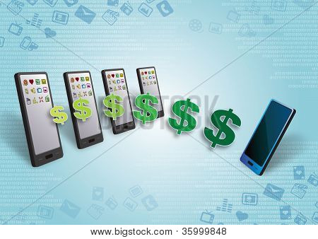 Smartphones Money and Content Transfer