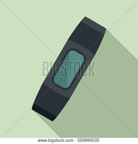 Smart Bracelet Device Icon. Flat Illustration Of Smart Bracelet Device Vector Icon For Web Design