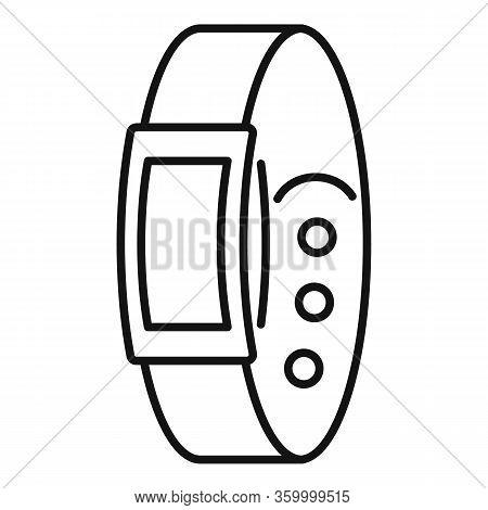 Bracelet Tracker Icon. Outline Bracelet Tracker Vector Icon For Web Design Isolated On White Backgro