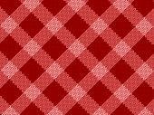 Seamless red fabric pattern background. Vector illustration. poster