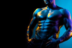 Male Fashion And Beauty. Sexy Muscular Macho. Fitness Diet. Desire And Temptation. Six Pack Of Sexy
