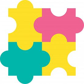 Design Jigsaw Detail Of Puzzle Construction Icon