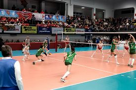 Kamensky, Ukraine-february 14, 2020. Ukrainian Volleyball Cup Of Ukraine. Champion Of Ukraine Vc Khi