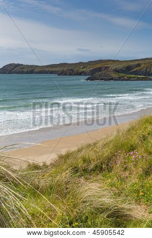 Whitesands Bay beach St Brides Bay West Wales Pembrokeshire