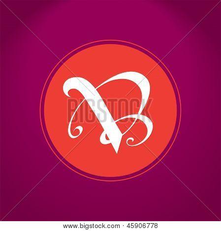 V and B Emblem