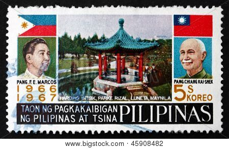 Postage Stamp Philippines 1967 Presidents Marcos And Chiang Kai-