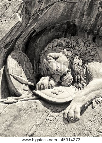 Dying Lion Monument In Lucerne