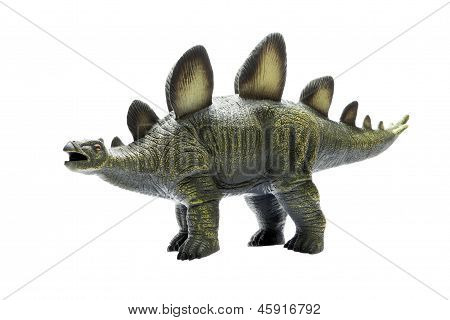 Herbivorous Green Dinosaur Toy, Made ??of Rubber.