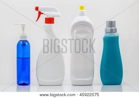 Household Cleaning Bottles 02-blank