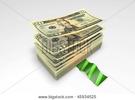 a wad of Dollar