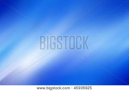 Smooth blue and white motion abstract background poster