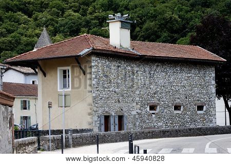 French stone house in Sassenage - Grenoble France.