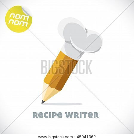 Recipe Writer Illustration