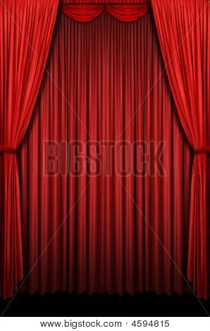 Red Vertical Curtain