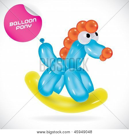 Balloon Pony Illustration