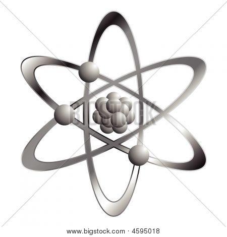 Atom Over White