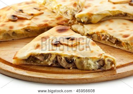 Pizza Calzone with Mushrooms