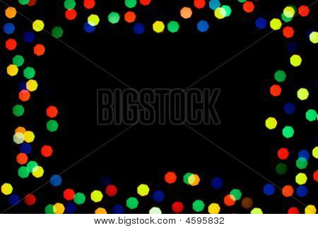 colored spots frame on the black background poster