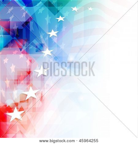 4th of July, American Independence Day colorful background with shiny stars.