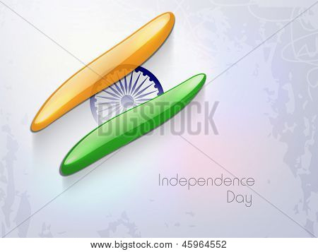 Indian Independence Day background with creative national flag design and Ashoka wheel. poster