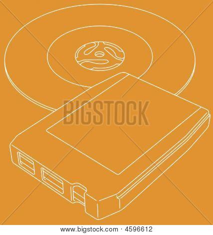 Retro 8-track Tape And 45 Single