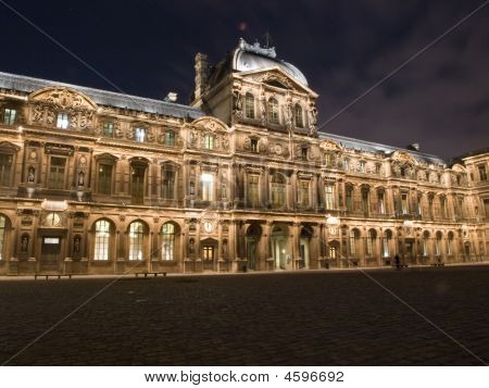 The Louvre Palace By Night