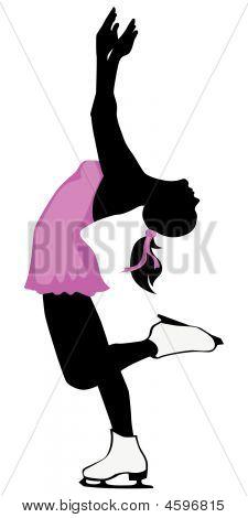 Figure Skater Silhouette