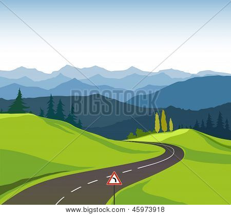 Road and landscape
