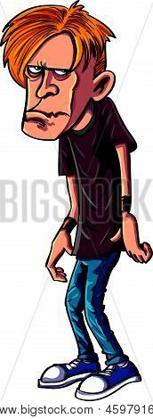 Sullen teen cartoon