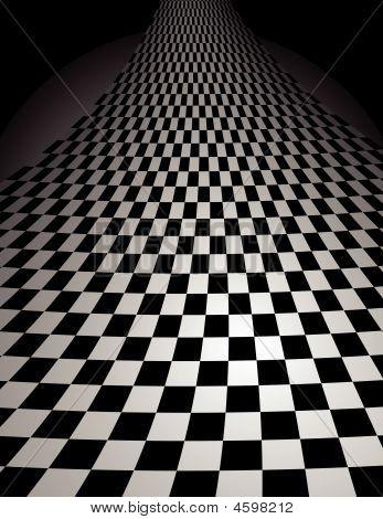 Checker Board Curl - Vector Illustration