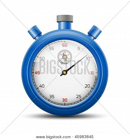 The blue stopwatch