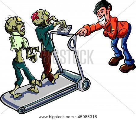 Zombies on a treadmill