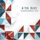 4th of July, American Independence Day abstract background in nation flag colors. poster