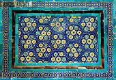 Tiled background with rich fanciful oriental ornaments poster