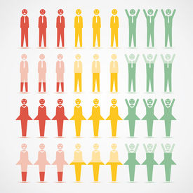 Men Women infographic mood vector illustration