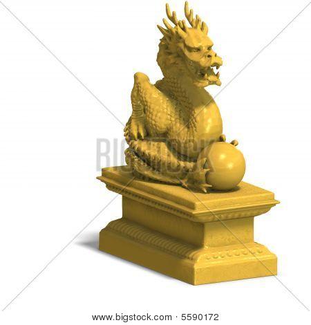 Statue Dragon Gold B 03 A_0001