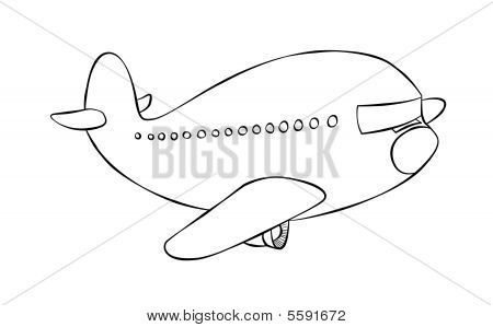 Cartoon Passenger Jet