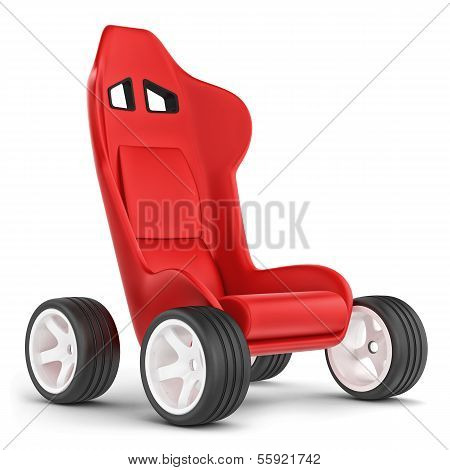 Concept Cart. Seat On Wheels.