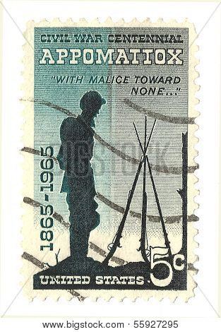 United States Stamp of the Centennial of the Battle of Appomattox
