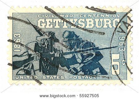 United States Stamp Gettysburg