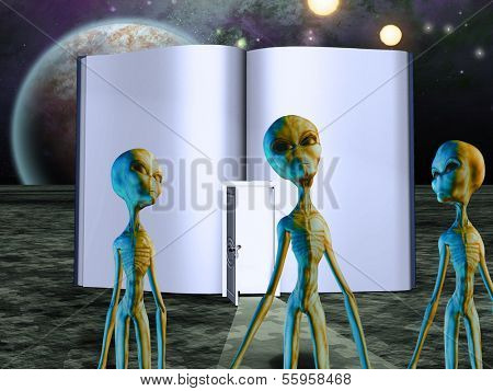 Aliens Story Book