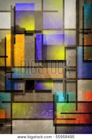 Modern Art Inspired Geometric Design poster