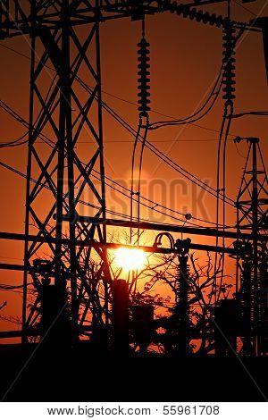 Sunset Of Powerhouse.