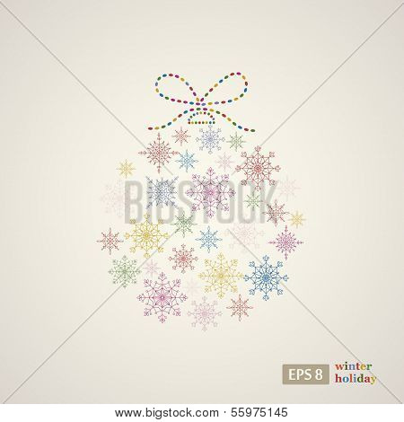 Decoration snowflakes event ball.