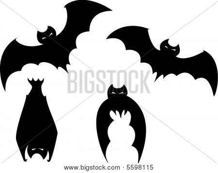 Set of Halloween Bats