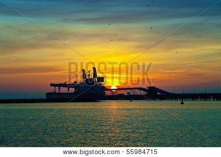Coal Pier At Sunrise